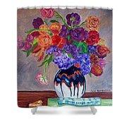 Fanciful Bouquet Shower Curtain
