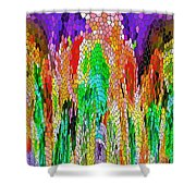 Fanciful Colors  Abstract Mosaic Shower Curtain