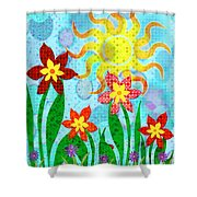 Fanciful Flowers Shower Curtain by Shawna Rowe