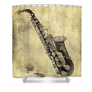Fancy Antique Saxophone In Pastel Shower Curtain
