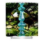 Fancy Blue Ornament Shower Curtain