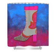 Fancy Boot Shower Curtain