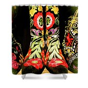 Fancy Boots Shower Curtain
