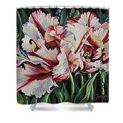 Fancy Parrot Tulips Shower Curtain