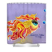 Fancytail Goldfish Shower Curtain
