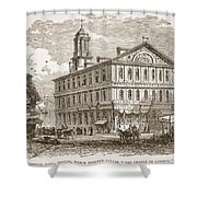 Faneuil Hall, Boston, Which Webster Shower Curtain