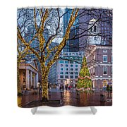 Faneuil Hall Holiday Shower Curtain