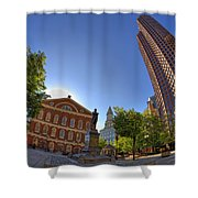 Faneuil Hall Square Shower Curtain by Joann Vitali