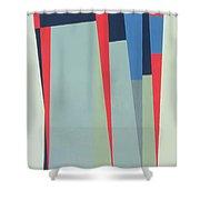 Fanfare, 1974 Acrylic On Gouache And Pencil Shower Curtain