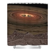 Fantacy Edge Of The World Shower Curtain