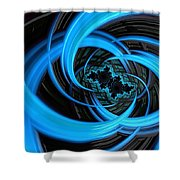 Fantasia Azul Shower Curtain