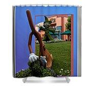 Fantasia Mickey And Broom Floral Walt Disney World Hollywood Studios Shower Curtain