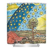 Fantastic Depiction Of The Solar System Shower Curtain