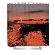 Fantastic Space Sunset Shower Curtain