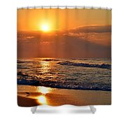Fantastic Sunrise Colors Clouds Rays And Waves On Navarre Beach Shower Curtain