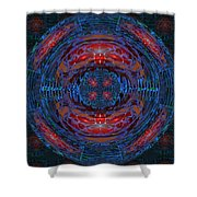 Fantasy Art Future Cosmic Discoveries Biological Planets N Galaxies Recreating N Multiplying Backgro Shower Curtain