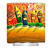 Fantasy Art - The Village Festival Shower Curtain