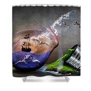 Fantasy Bulb Shower Curtain