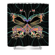 Fantasy Butterfly Shower Curtain