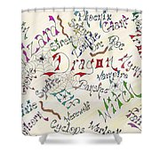 Fantasy Creatures Shower Curtain