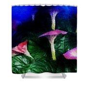 Fantasy Flowers Embossed Hp Shower Curtain