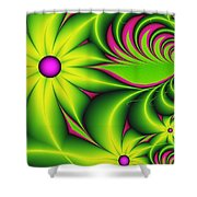 Fantasy Flowers Shower Curtain