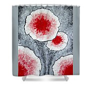 Fantasy Flowers In Red No 1 Shower Curtain