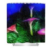 Fantasy Flowers Lux Shower Curtain