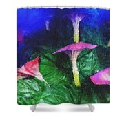 Fantasy Flowers Pastel Chalk 2 Shower Curtain
