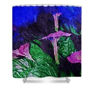 Fantasy Flowers Watercolor 2 Hp Shower Curtain