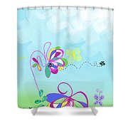 Fantasy Garden Chisdren's Art - Side Panel 2 Shower Curtain