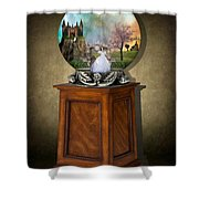 Fantasy Globe 2 Shower Curtain