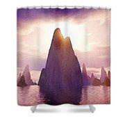 Fantasy Islands Shower Curtain