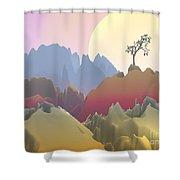 Fantasy Mountain Shower Curtain
