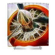 Fantasy Plane Shower Curtain by Paul Ward