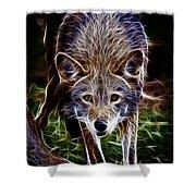 Fantasy Red Wolf Shower Curtain
