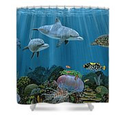 Fantasy Reef Re0020 Shower Curtain