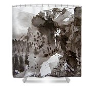 Fantasy Ski Run Shower Curtain