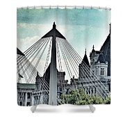 Fantasy London . Old Spires New Shower Curtain
