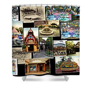 Fantasyland Disneyland Collage Shower Curtain