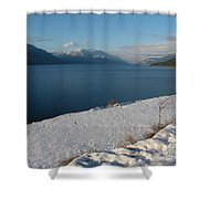 Far And Beyond Shower Curtain