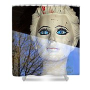 Far Away Eyes Shower Curtain