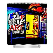 Far Out Art Museum At Wonderworks Shower Curtain