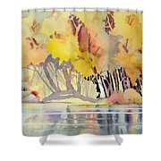 Far Side Of The Pond Shower Curtain