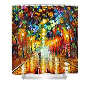 Farewell To Anger Shower Curtain by Leonid Afremov