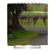 Farm And Vineyard Shower Curtain