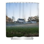Farm At Valley Forge In Morning Shower Curtain