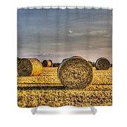 Farm Bales Shower Curtain