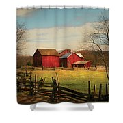 Farm - Barn - Just Up The Path Shower Curtain