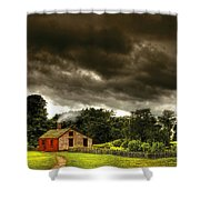 Farm - Barn - Storms A Comin Shower Curtain